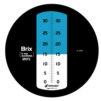 Atago 2473 MASTER-S10M Hand-Held Salinity Refractometer Brix 0 to 100 Manual Temperature Compensation